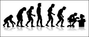 """Ironica Immagine dell' """"Evoluzione Posturale"""" dell'Uomo"""